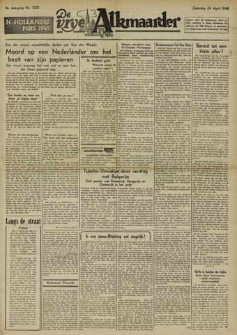 De Vrije Alkmaarder 1948-04-24