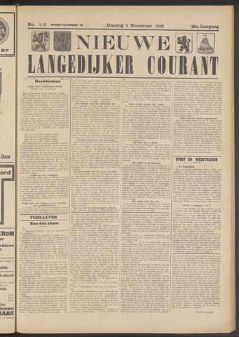 Nieuwe Langedijker Courant 1926-11-02