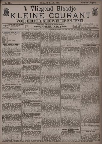 Vliegend blaadje : nieuws- en advertentiebode voor Den Helder 1886-11-13