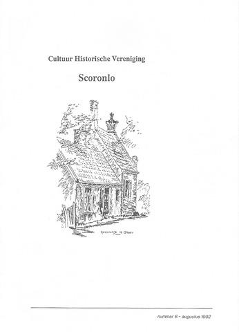 Tijdschrift van cultuurhistorische vereniging Scoronlo 1992-08-01