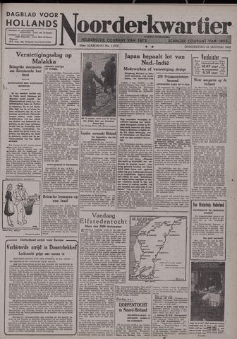 Dagblad voor Hollands Noorderkwartier 1942-01-22