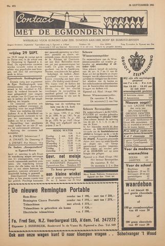 Contact met de Egmonden 1961-09-28
