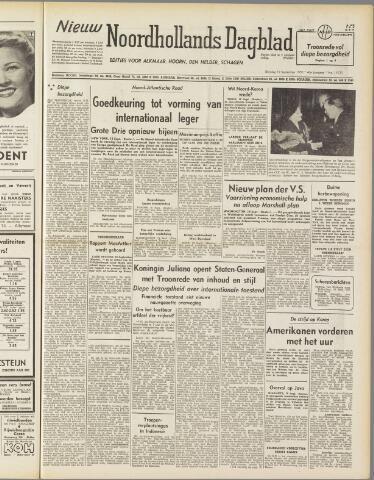 Nieuw Noordhollandsch Dagblad : voor Alkmaar en omgeving 1950-09-19