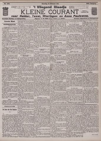 Vliegend blaadje : nieuws- en advertentiebode voor Den Helder 1912-02-24