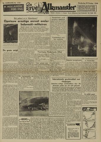 De Vrije Alkmaarder 1949-10-20