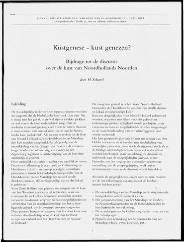 Uitgave Kring van Vrienden van de Hondsbossche 1987