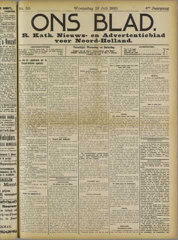 Ons Blad : katholiek nieuwsblad voor N-H 1910-07-13