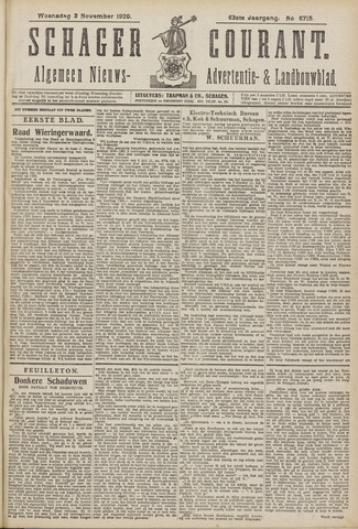 Schager Courant 1920-11-03