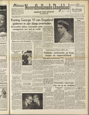 Nieuw Noordhollandsch Dagblad : voor Alkmaar en omgeving 1952-02-07