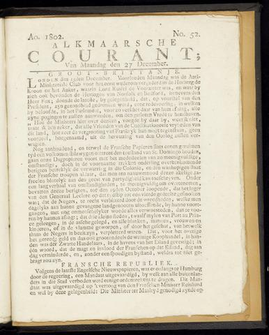 Alkmaarsche Courant 1802-12-27