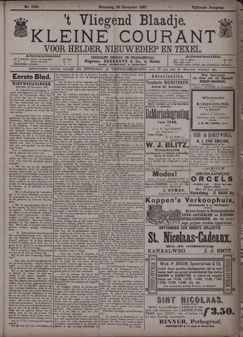 Vliegend blaadje : nieuws- en advertentiebode voor Den Helder 1887-11-30