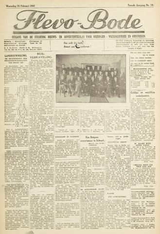 Flevo-bode: nieuwsblad voor Wieringen-Wieringermeer 1947-02-26