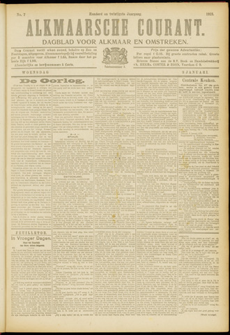 Alkmaarsche Courant 1918-01-09