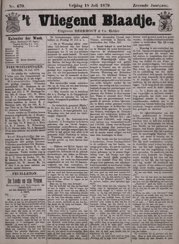 Vliegend blaadje : nieuws- en advertentiebode voor Den Helder 1879-07-18