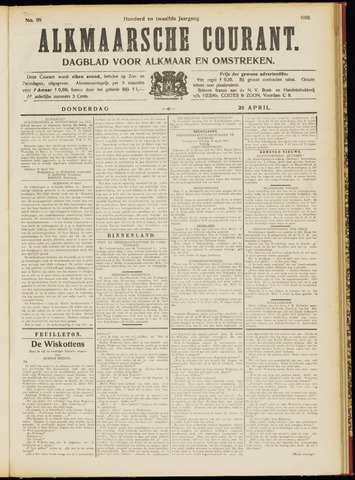 Alkmaarsche Courant 1910-04-28