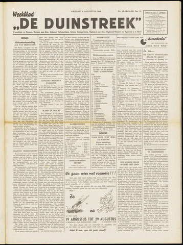 De Duinstreek 1950-08-11