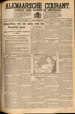Alkmaarsche Courant 1939-09-26