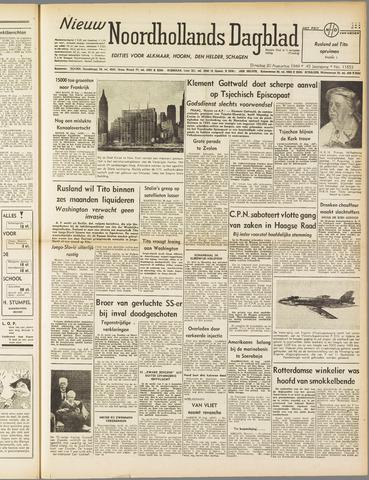 Nieuw Noordhollandsch Dagblad : voor Alkmaar en omgeving 1949-08-30