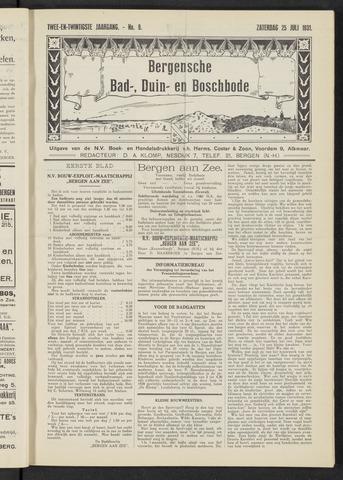 Bergensche bad-, duin- en boschbode 1931-07-25