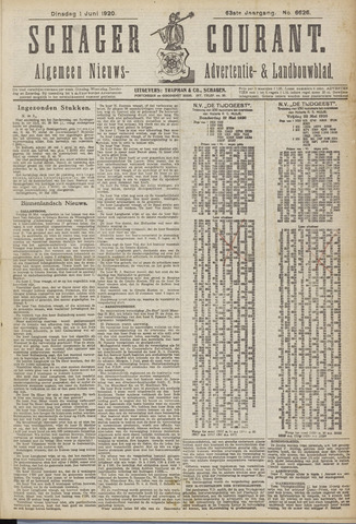 Schager Courant 1920-06-01