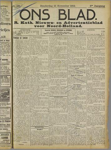 Ons Blad : katholiek nieuwsblad voor N-H 1912-11-21