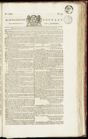 Alkmaarsche Courant 1832-12-03