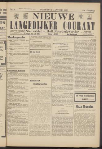 Nieuwe Langedijker Courant 1932-01-12