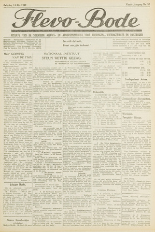 Flevo-bode: nieuwsblad voor Wieringen-Wieringermeer 1949-05-14