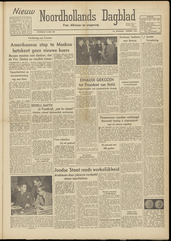 Nieuw Noordhollandsch Dagblad : voor Alkmaar en omgeving 1948-05-12