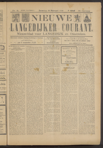 Nieuwe Langedijker Courant 1922-02-18