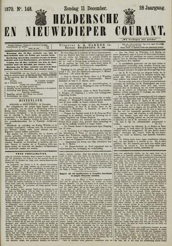 Heldersche en Nieuwedieper Courant 1870-12-11