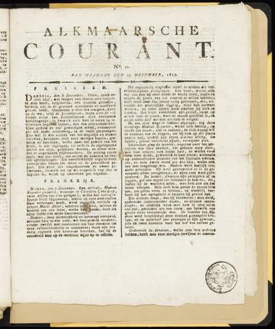 Alkmaarsche Courant 1815-12-25
