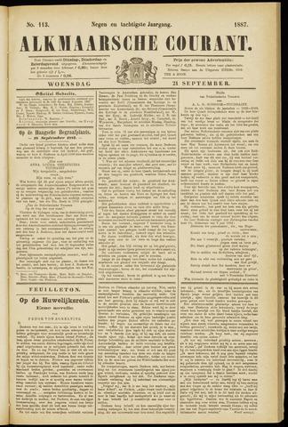 Alkmaarsche Courant 1887-09-21
