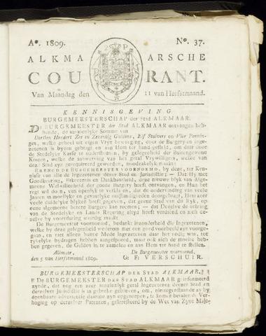 Alkmaarsche Courant 1809-09-11