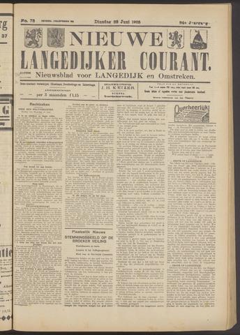 Nieuwe Langedijker Courant 1925-06-23
