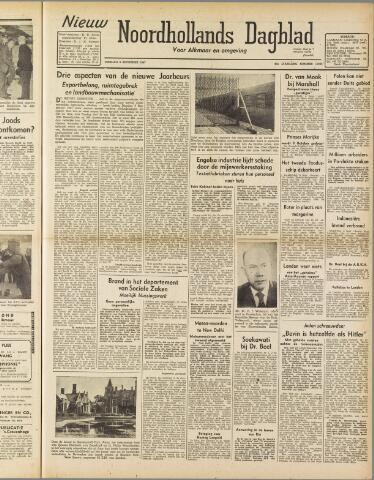 Nieuw Noordhollandsch Dagblad : voor Alkmaar en omgeving 1947-09-09