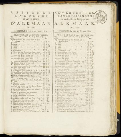 Alkmaarsche Courant 1813-06-23