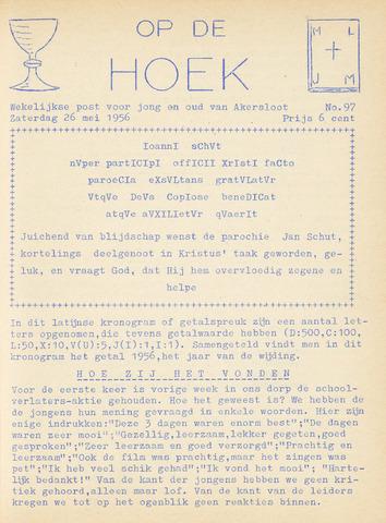 Op De Hoek, weekblad voor Akersloot 1956-05-26