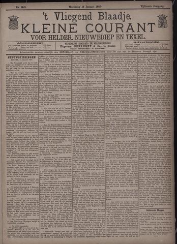 Vliegend blaadje : nieuws- en advertentiebode voor Den Helder 1887-01-12