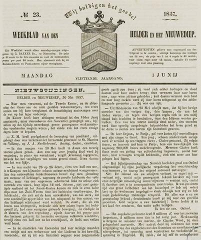 Weekblad van Den Helder en het Nieuwediep 1857-06-01