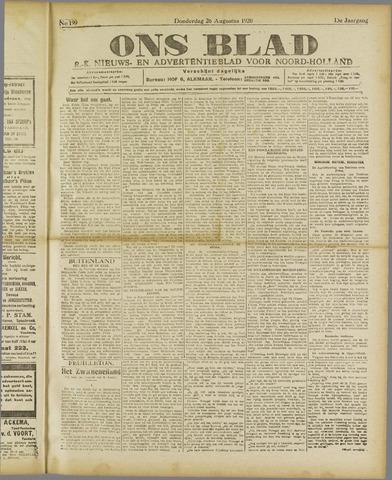 Ons Blad : katholiek nieuwsblad voor N-H 1920-08-26
