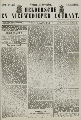 Heldersche en Nieuwedieper Courant 1870-11-18