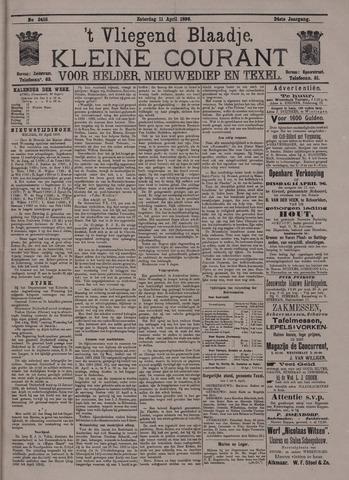 Vliegend blaadje : nieuws- en advertentiebode voor Den Helder 1896-04-11