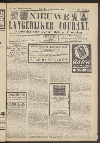 Nieuwe Langedijker Courant 1924-11-15