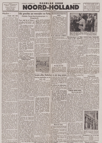 Dagblad Noord-Holland, Schager editie 1943-11-06