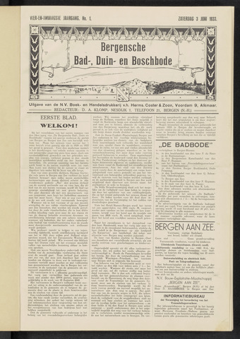 Bergensche bad-, duin- en boschbode 1933-06-03