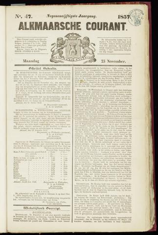 Alkmaarsche Courant 1857-11-23