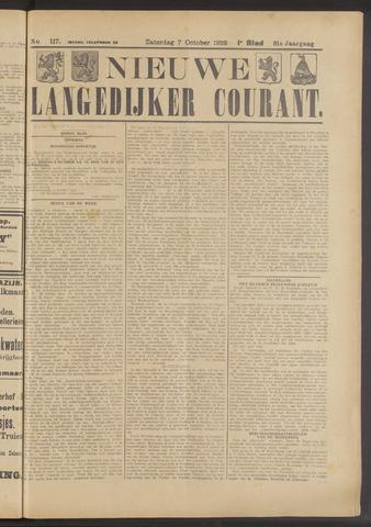Nieuwe Langedijker Courant 1922-10-07