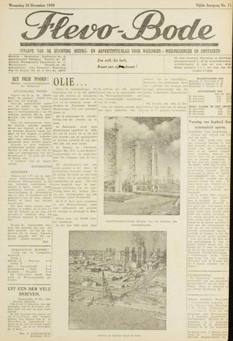 Flevo-bode: nieuwsblad voor Wieringen-Wieringermeer 1949-12-28