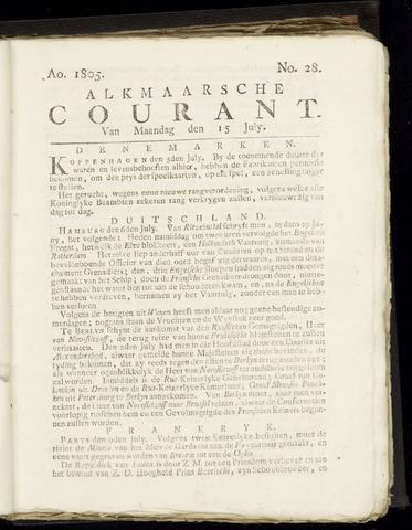 Alkmaarsche Courant 1805-07-15